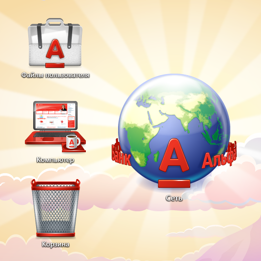 Wallpaper and icons for Alfa-Bank