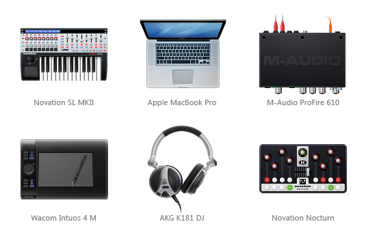 Musicians' and designers' devices