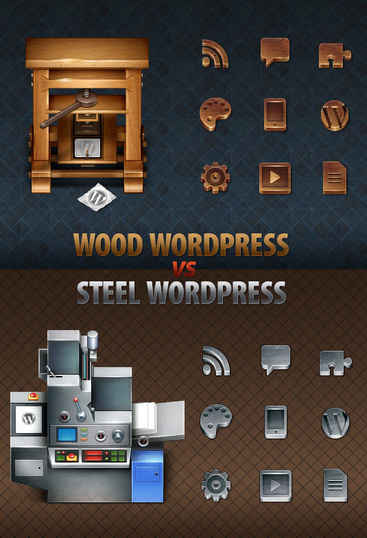WordPress-themed icons for ThemeForest