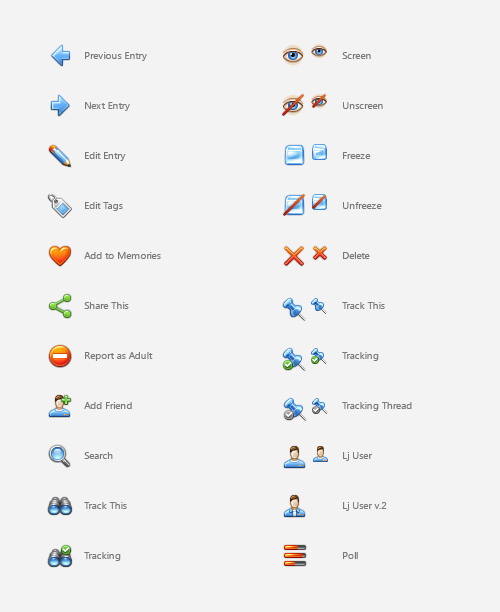 Free icons for LiveJournal