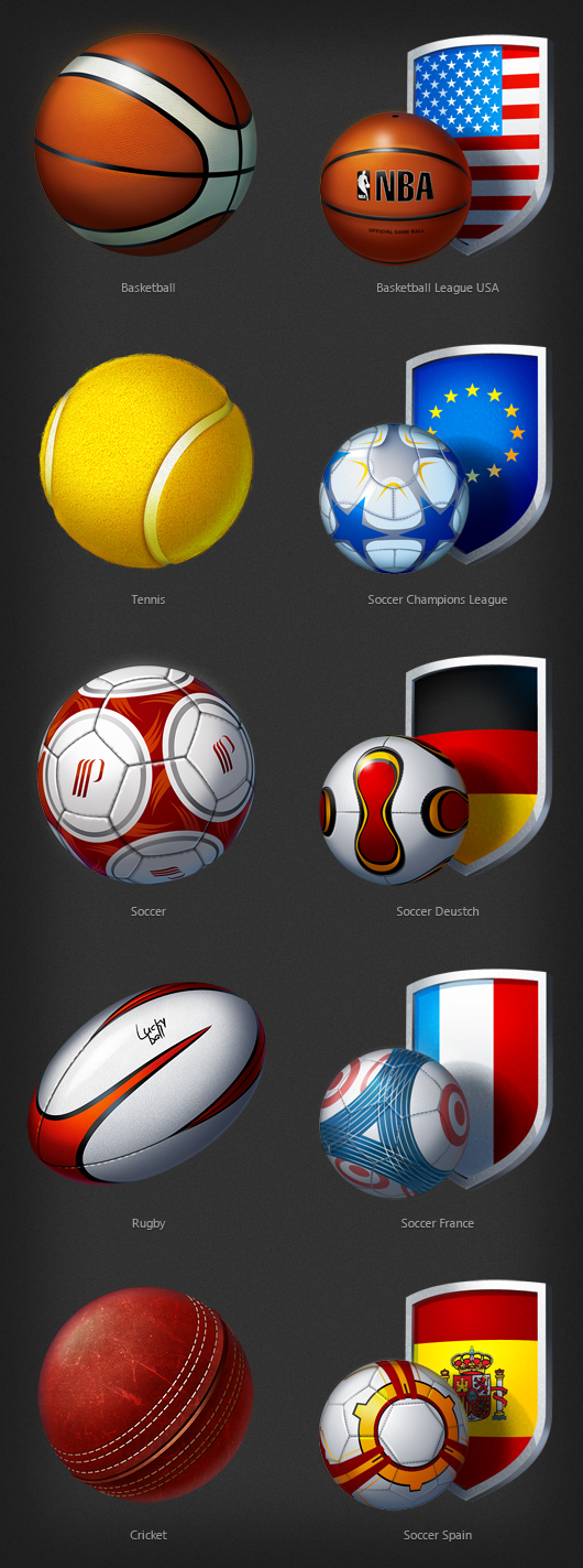 Balls of various shape and use
